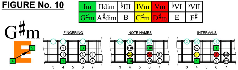 G#m box shapes and scale chords