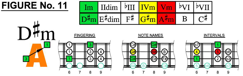 D#m box shapes and scale chords