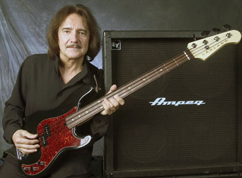 Geezer plus Lakland and Ampeg