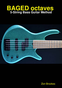BAGED octaves 5-string bass method