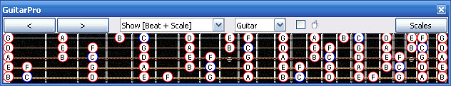 GuitarPro6 C major scale