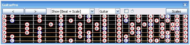 GuitarPro 6 fingerboard