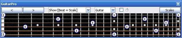 GuitarPro6 E natural octaves