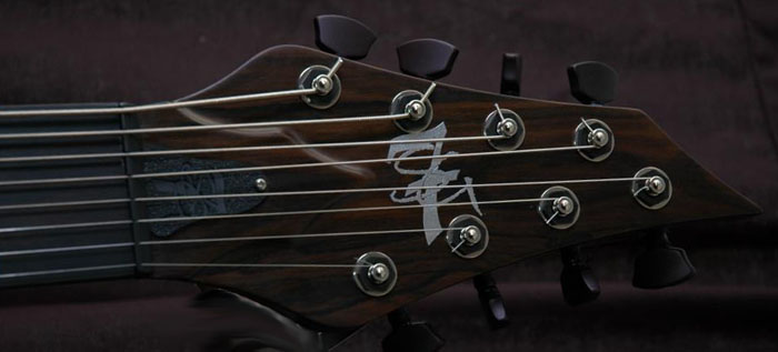 Stricktly 7 Guitars headstock