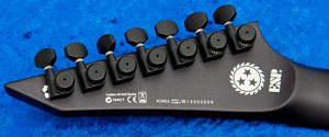 ESP LTD ZH-7 headstock back