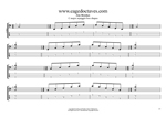 C major arpeggio box shapes TAB pdf