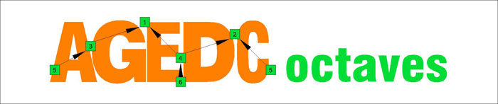 AGEDC octaves drop D logo
