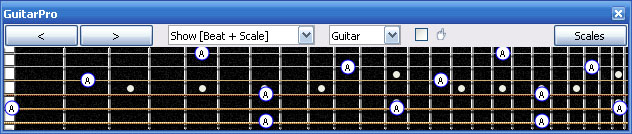 GuitarPro6 A natural octaves