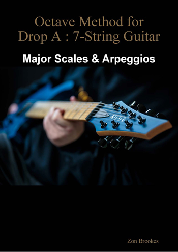 Octave Method for Drop A: 7-String Guitar eBook