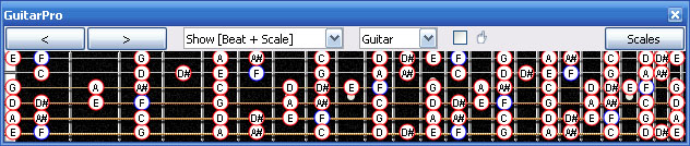 GuitarPro6 C major-minor octatonic scale
