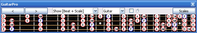 GuitarPro6 F bebop dominant scale