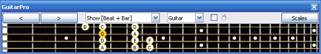 GuitarPro6 G mixolydian mode 2D* box shape