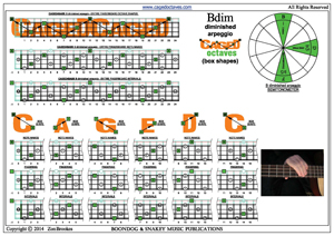 CAGED4BASS B diminished arpeggio box shapes pdf