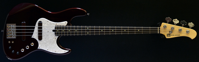 Xotic XJ-1T 4 bass, Black Cherry, Rosewood fretboard