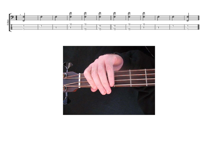 EDCAG4BASS F natural octaves TAB pdf