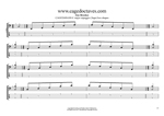 CAGED4BASS C major arpeggio 3nps box shapes TAB pdf