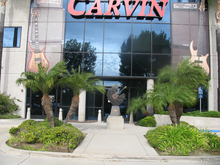 Carvin Guitars factory entrance