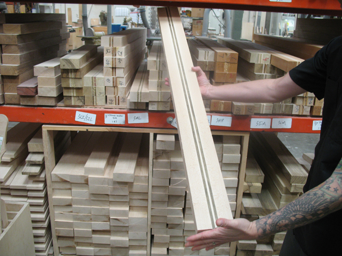 Rack of thru-neck blanks