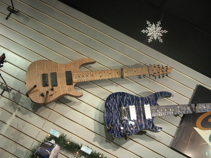 8-string Carvin electrics