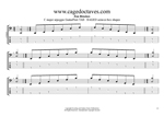 BAGED octaves C major arpeggio box shapes GuitarPro6 TAB pdf