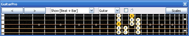 GuitarPro6 3Am1 box shape at 12