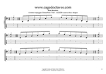 AGEDB octaves A minor arpeggio box shapes GuitarPro6 TAB pdf