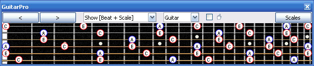 GuitarPro6 A minor arpeggio