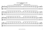 AGEDBC octaves A minor arpeggio (3nps) box shapes TAB pdf
