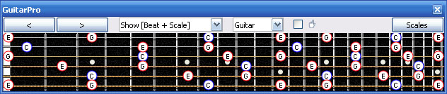GuitarPro6 C major arpeggio