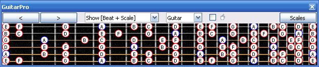 GuitarPro6 A minor scale