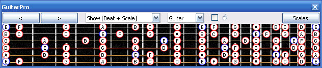 GuitarPro6 E phrygian mode