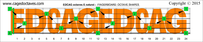 EDCAGoctaves fingerboard : E natural octaves