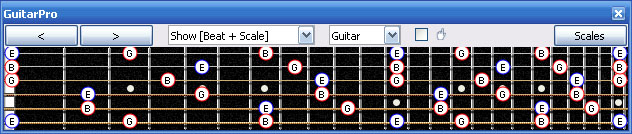 GuitarPro6 E minor arpeggio