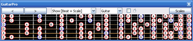 GuitarPro6 G mixolydian mode