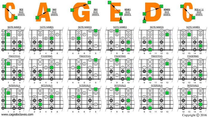 blogozon 6 string guitar drop d tuning caged octaves c natural octaves major. Black Bedroom Furniture Sets. Home Design Ideas