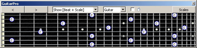 GuitarPro6 (Drop E : 8-string): C natural octaves