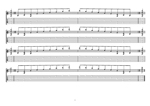 8-string:Drop E - D minor arpeggio (3nps) box shapes TAB pdf