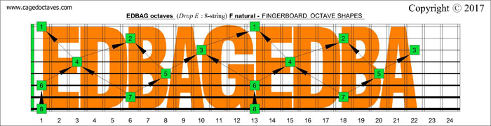 EDBAG octaves fingerboard : F natural octaves