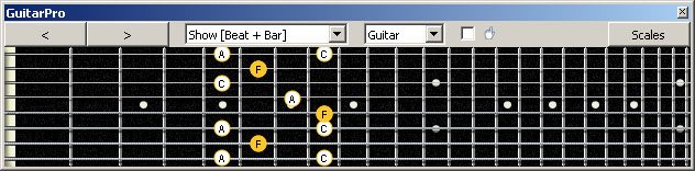 GuitarPro6 (8-string: Drop E) F major arpeggio : 7B5B2 box shape pdf