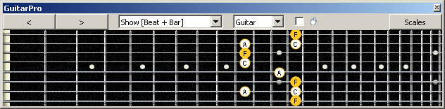 GuitarPro6 (8-string: Drop E) F major arpeggio : 8E6E4E1 box shape pdf