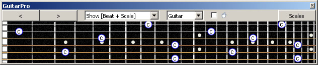 GuitarPro6: C natural octaves