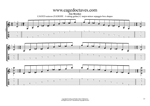 C major -minor arpeggio (6-string guitar: Standard tuning) box shapes TAB pdf