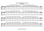 AGEDC4BASS (4-string bass : Low E) - A minor-diminished arpeggio box shapes TAB pdf
